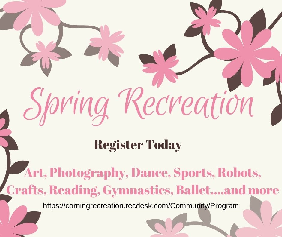 City of Corning Spring Recreation Graphic