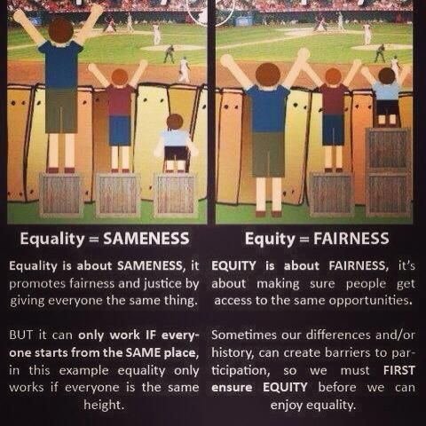 demonstrating the difference between equity and equality
