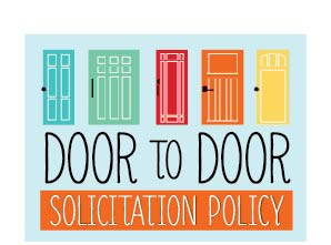 Door to door solicitation graphic