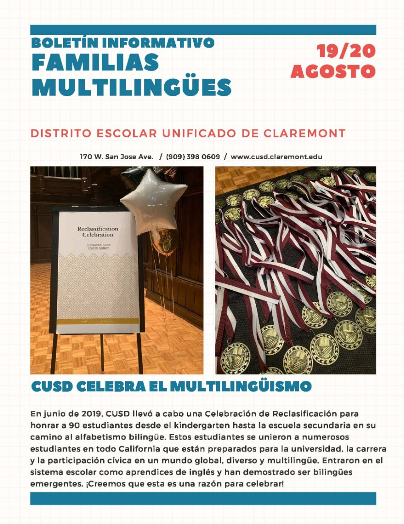 2019-20 Multilingual Family Newsletter