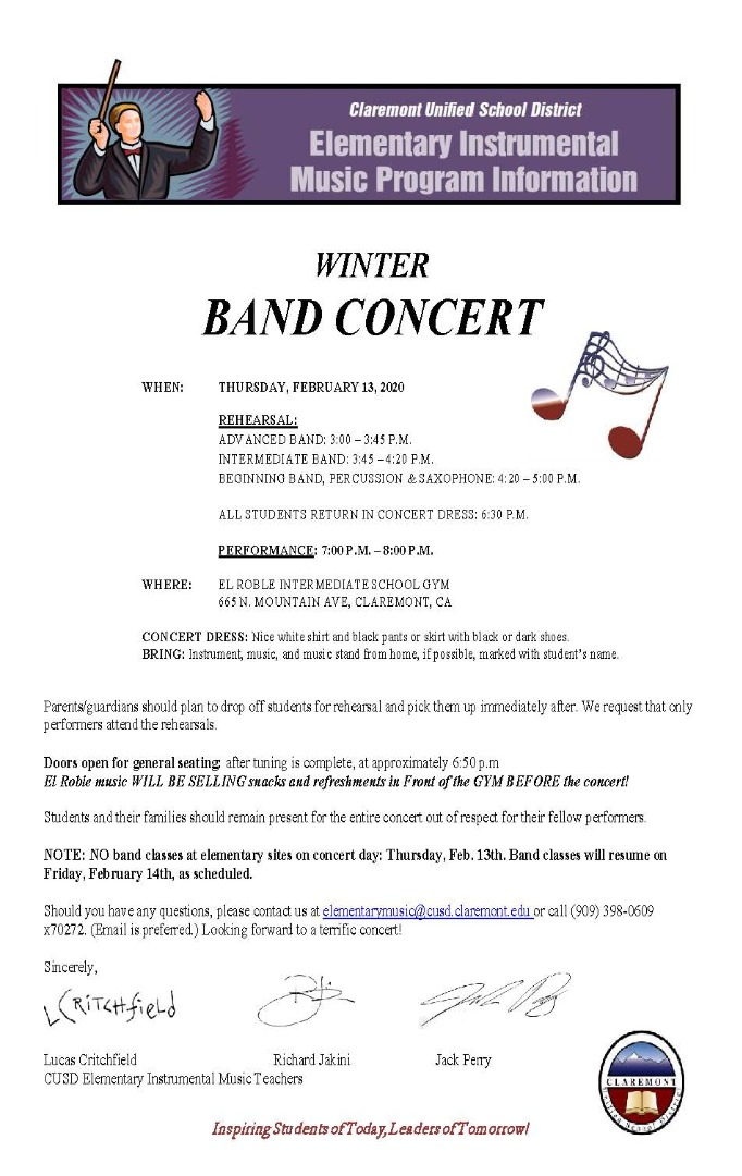Winter Band Concernt