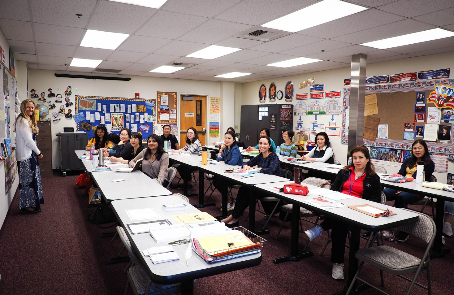 Claremont Adult School Advanced ESL class