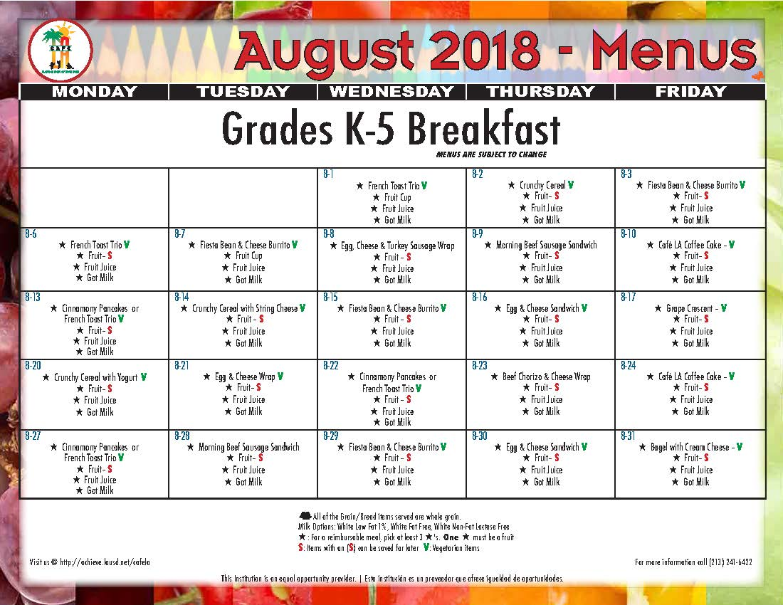 2018 August Breakfast Menu Grades K-5.jpg