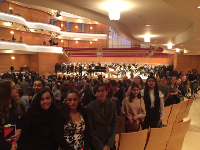 MESA group at the end of the  LA Philharmonic Concert at Segerstrom Concert Hall