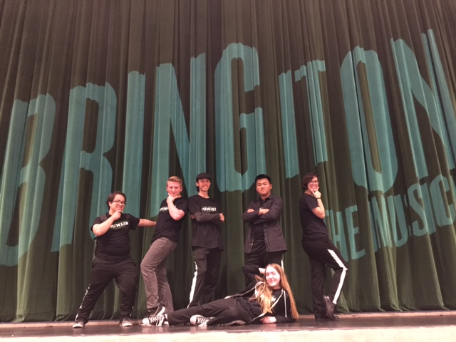 pit orchestra students from  Bring It On , the musical