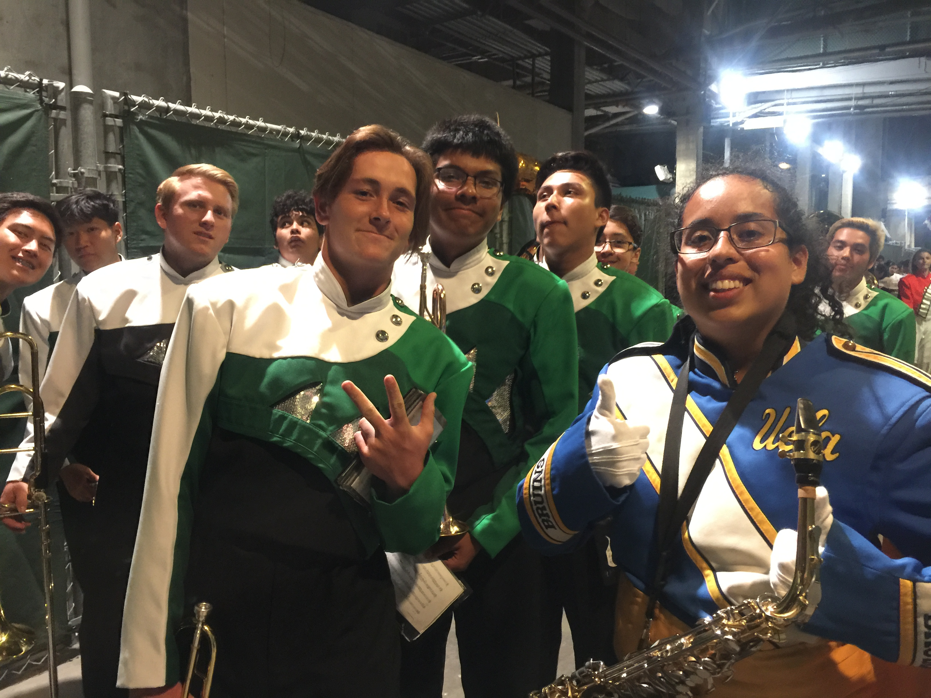 Cullen and members with UCLA sax