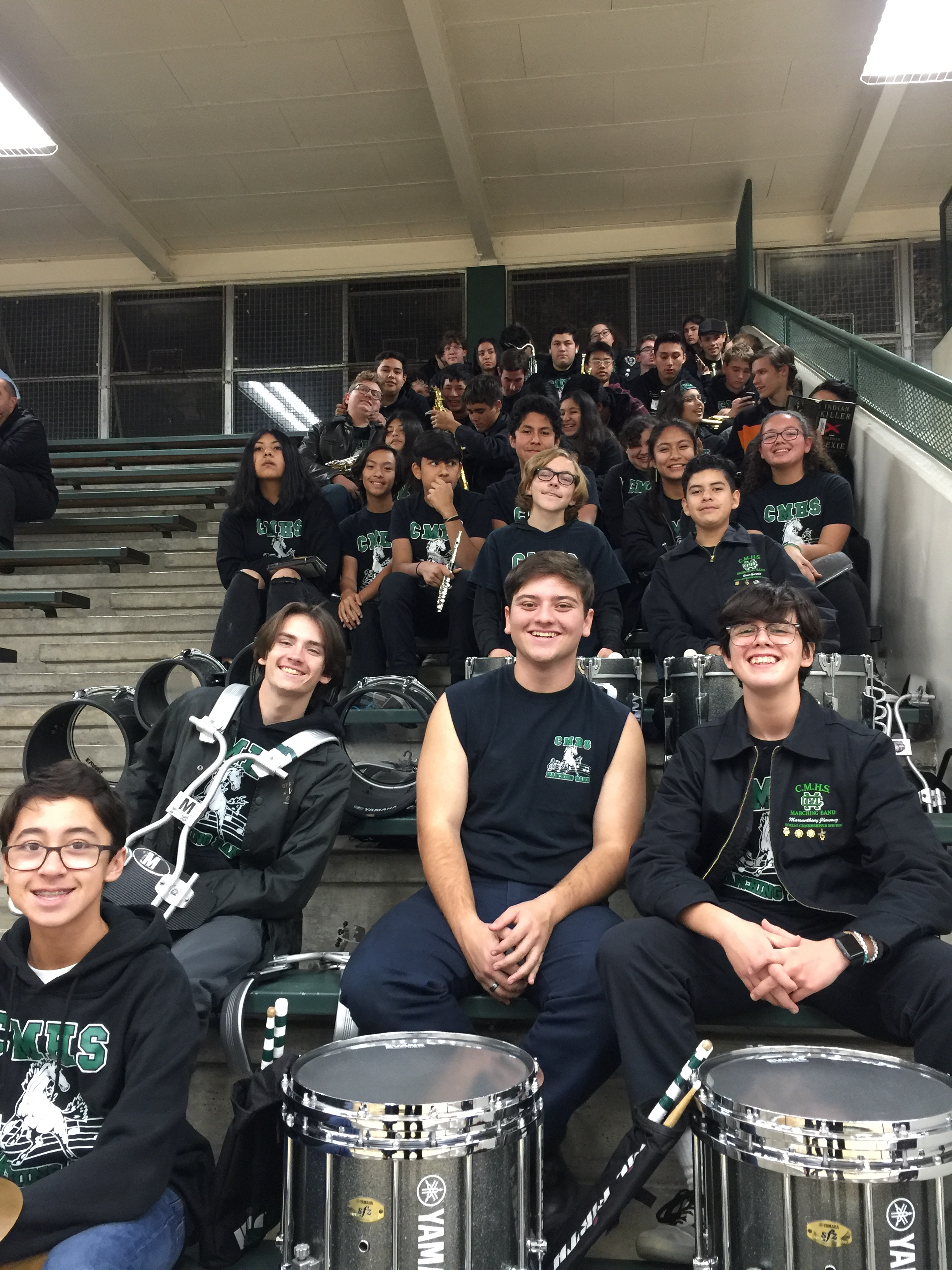 Pep Band adds support to our CMHS Basketball games