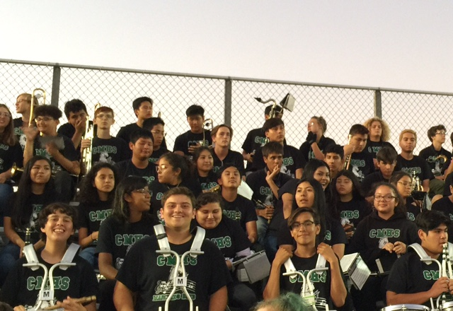 The CMHS Marching Band at first home football game