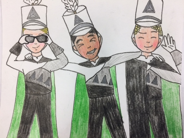 Angie s drawing of our CMHS drum majors