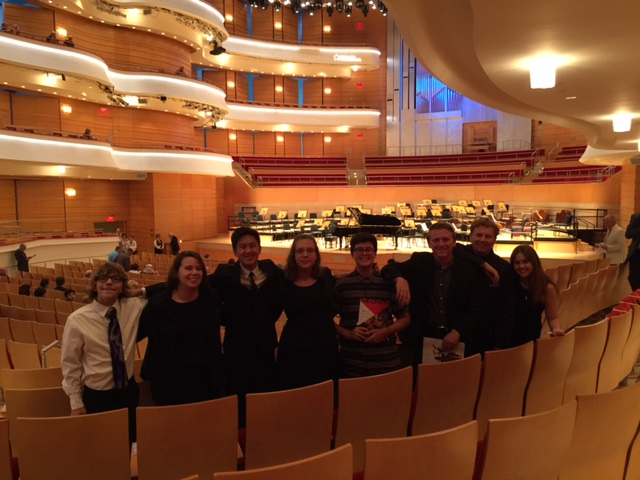 Students at Herny   Renee Segerstrom Concert Hall for Czech Philharmonic