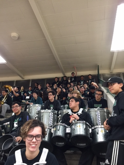 Pep Band adds support to our CMHS Boys Basketball games