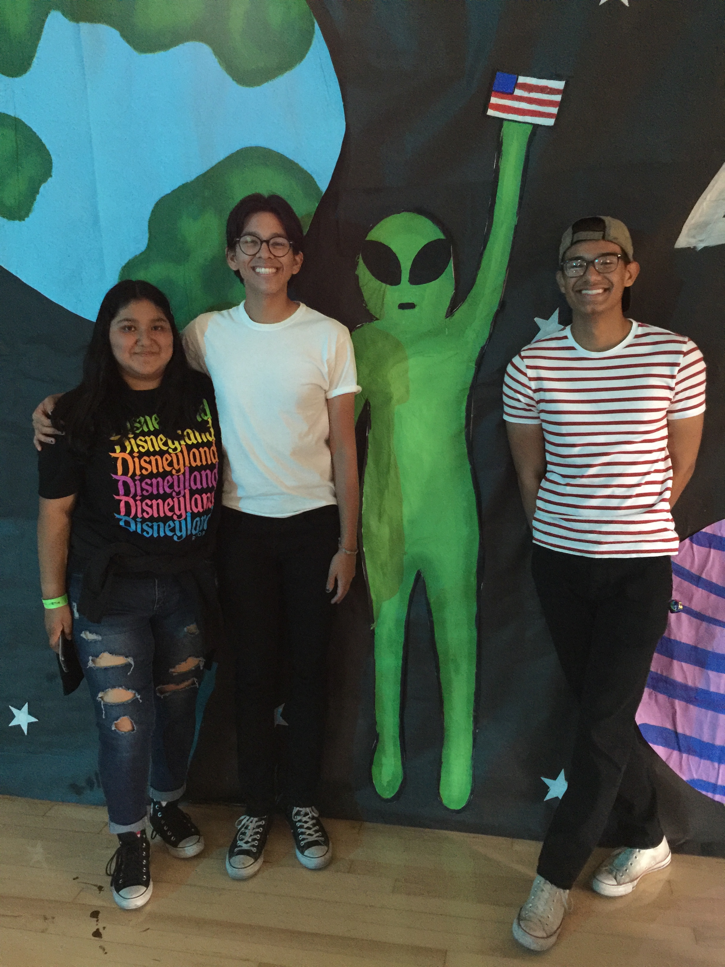 Leslie, JP   Luigi with alien at rally