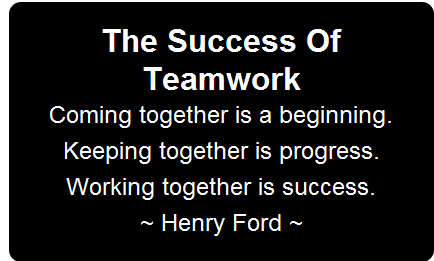 The success of teamwork quote by Henry Ford