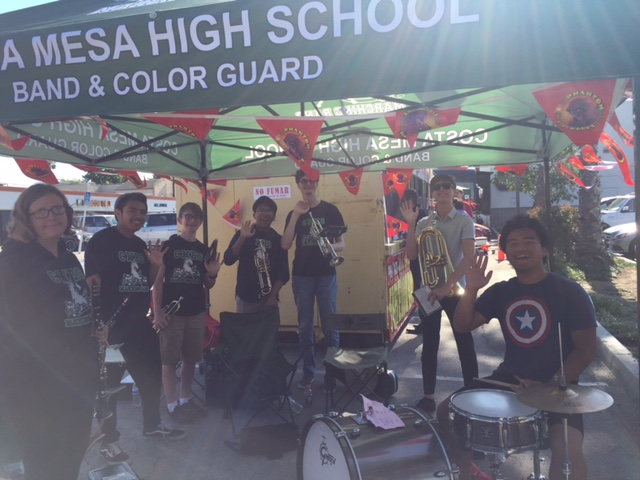 Band plays at Fireworks Booth