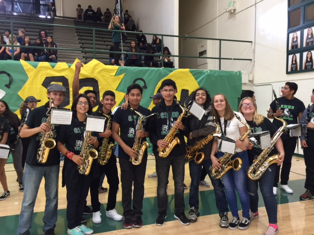 sax section at fall rally 2018