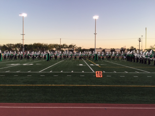 The Marching Band performs pregame