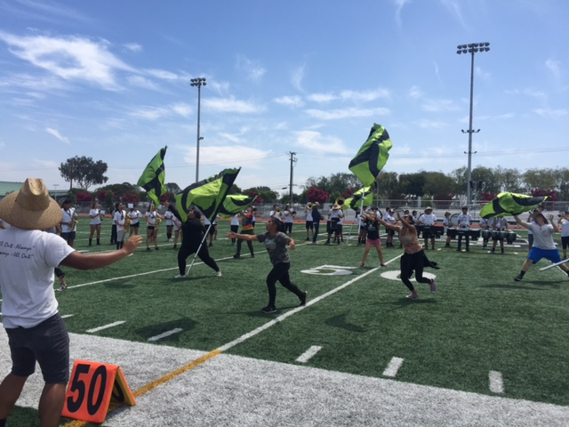 Guard gets blown away during rehearsal