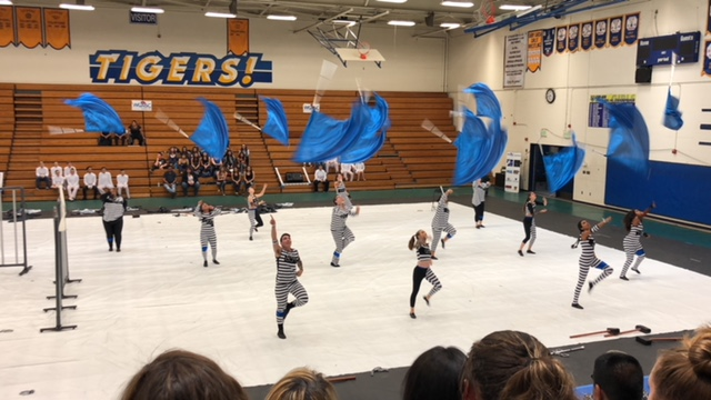 2018 CMHS Color Guard on competition floor