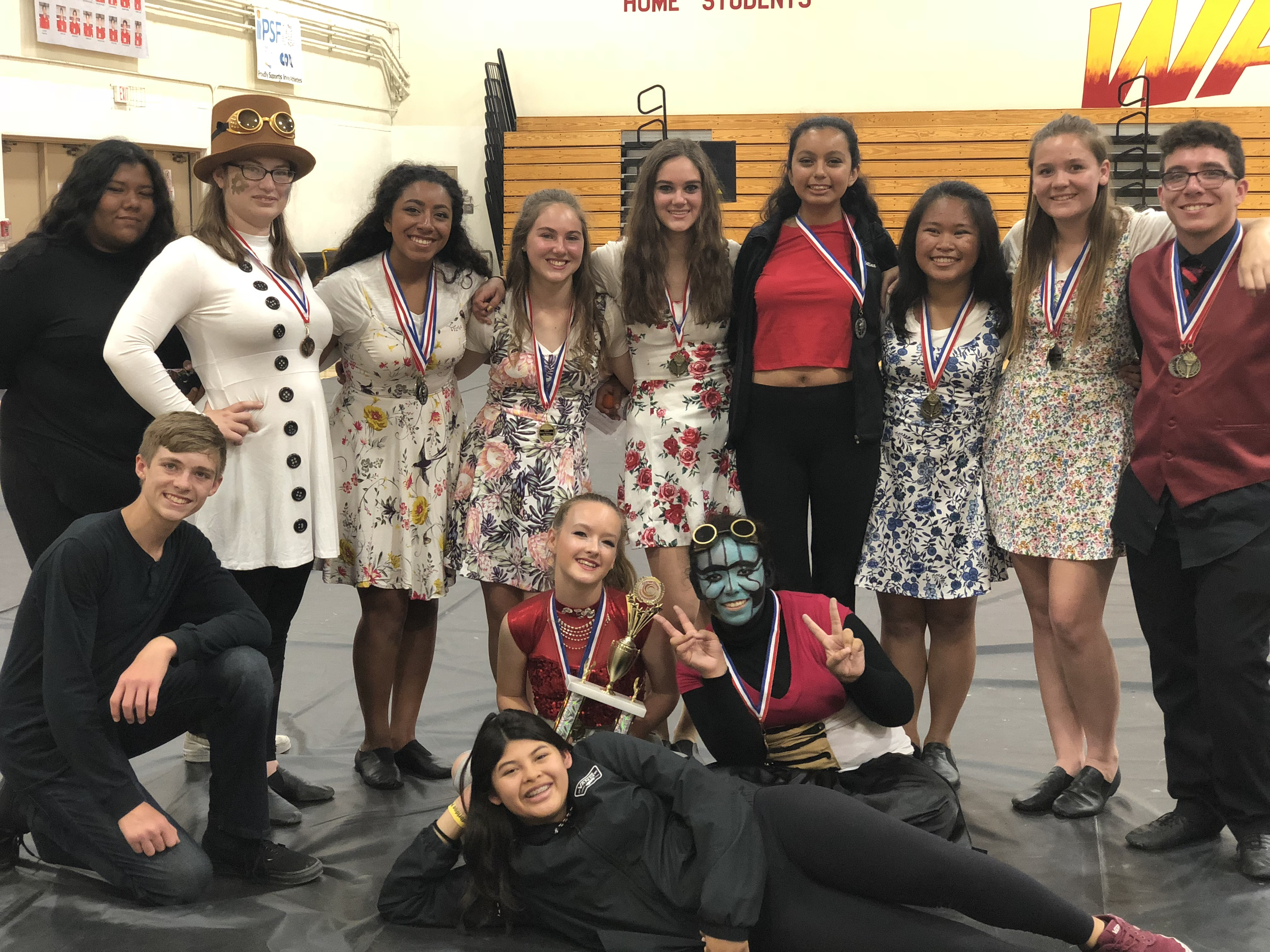 color guard competes at 2018 woodbridge show