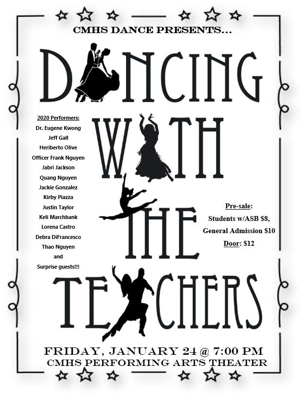 CMHS Dance presents Dancing with the Staff Friday, January 24, 7:00 pm