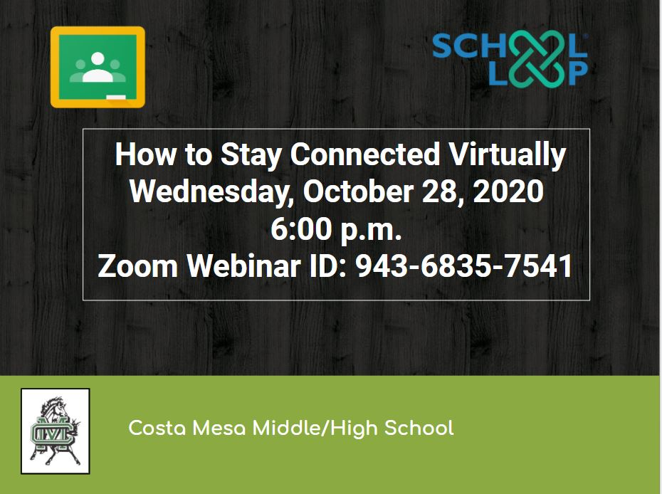 How to Stay Connected Virtually - 10/28/2020 6:00 pm