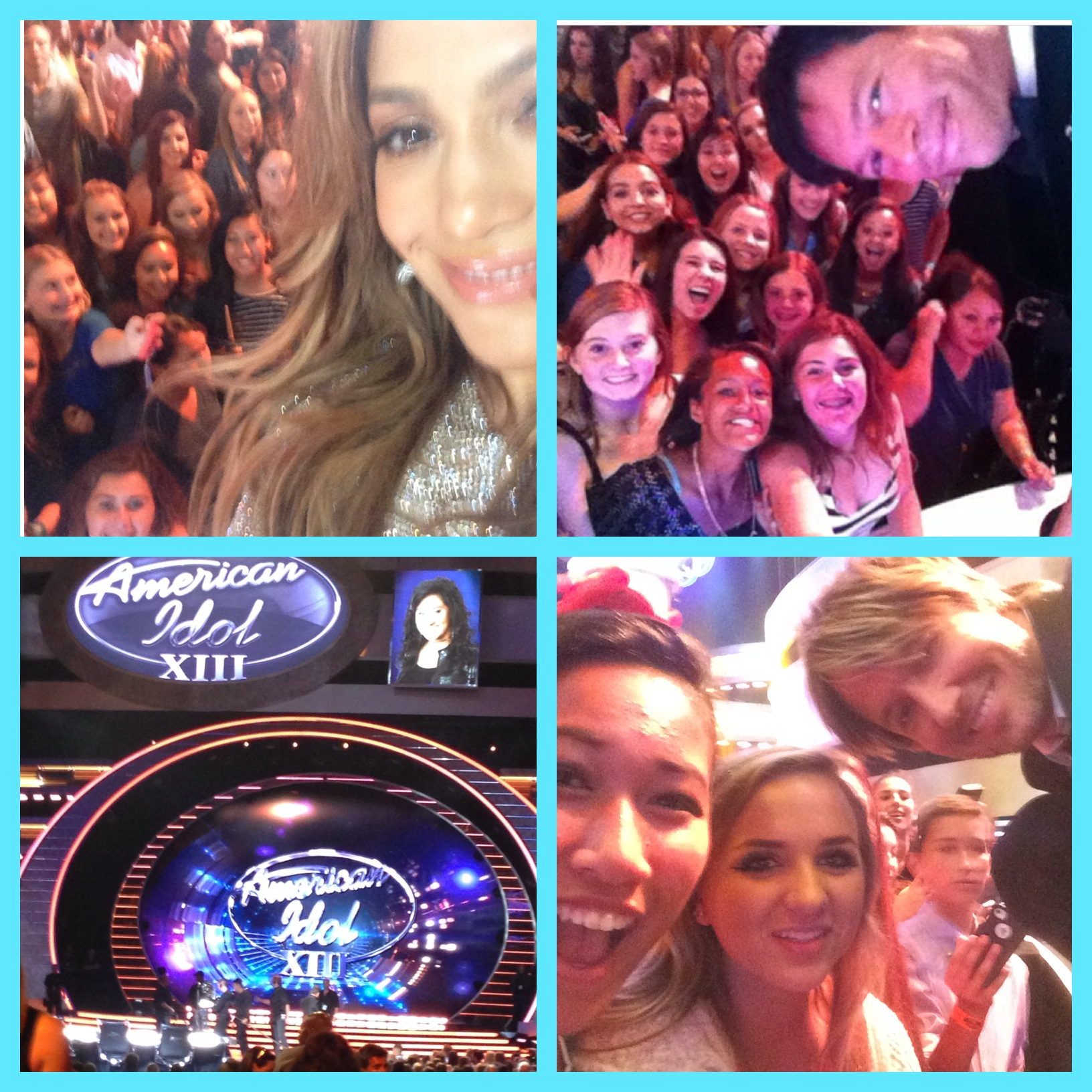 CMHS Cheer visits American Idol