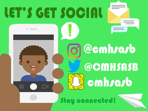 Follow ASB on social media using @cmhsasb