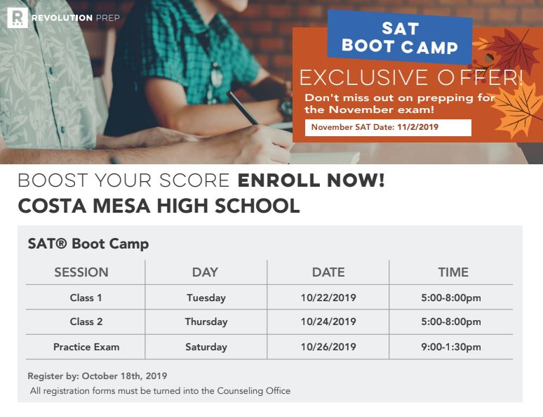 SAT Boot Camp Flyer