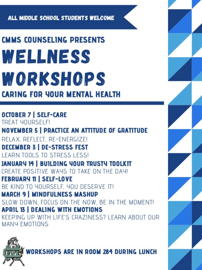 CMMS Wellness Workshop Schedule