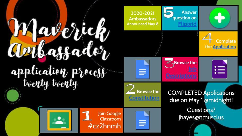 Maverick ambassador application process