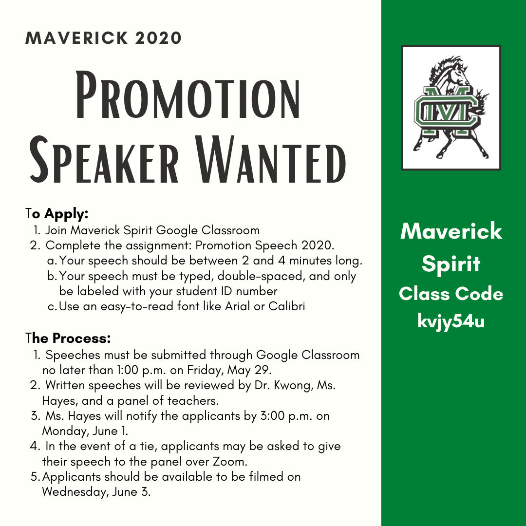 Promotion Speaker Wanted