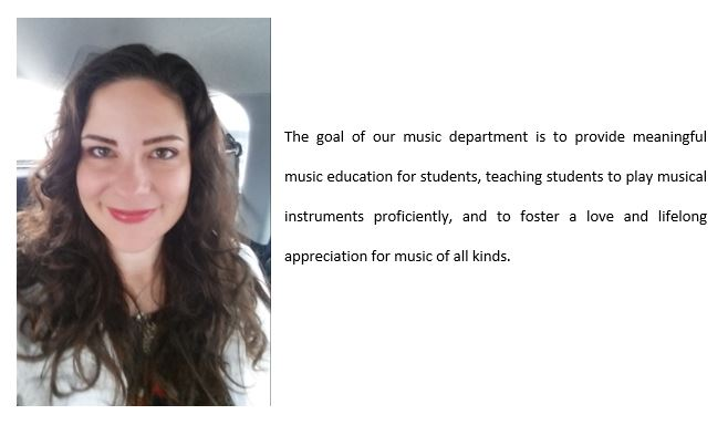 Department goal is for music education and love of music in our kids
