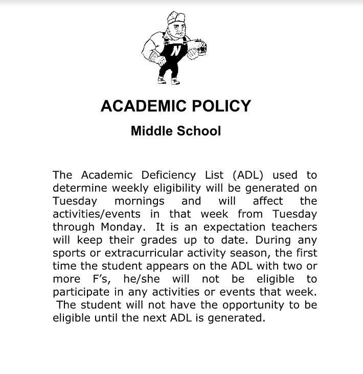 Academic Policy for Athletes