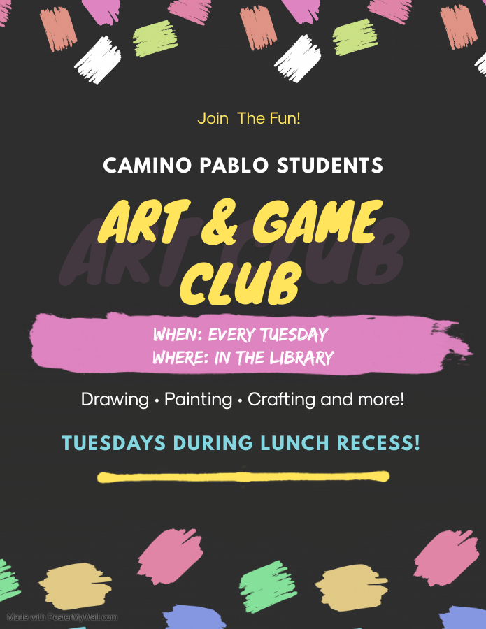 Art and Game Club on Tuesday