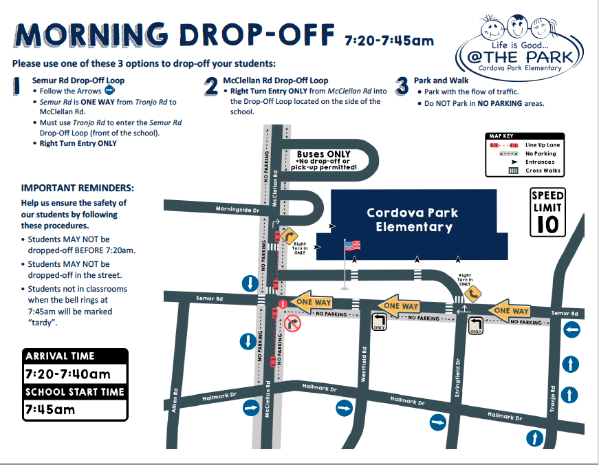 Morning Drop-Off Map