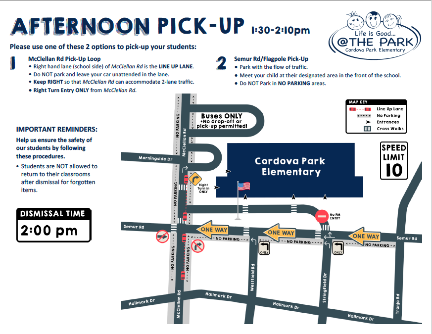 Afternoon Pick-Up Map