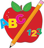 ABC 123 apple