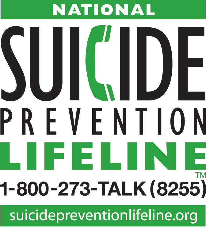 Suicide National Hotline Graphic and Link
