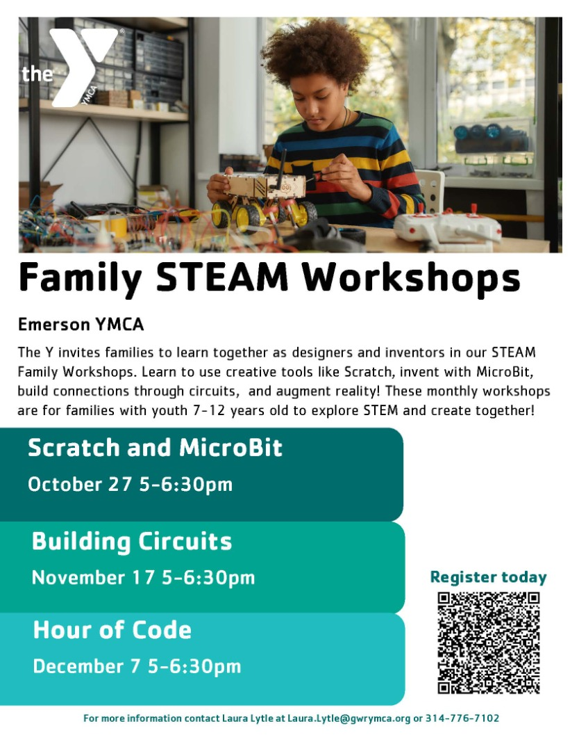 Parents! Please join us and our YMCA partner in STEAM activities! RSVP now!!!