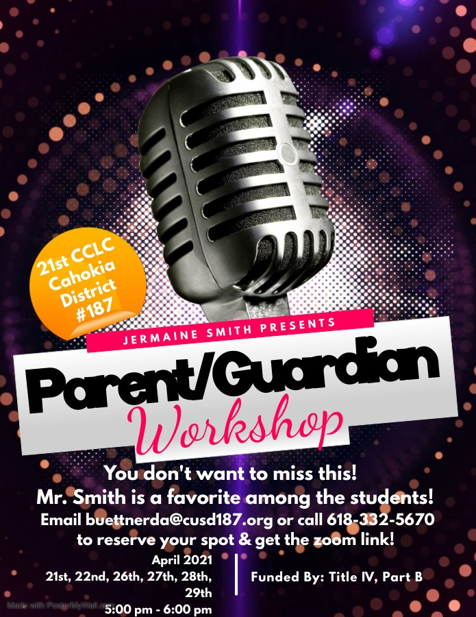 We are so excited to announce our parent engagement series with our partner Mr.  Smith & Friends!!
