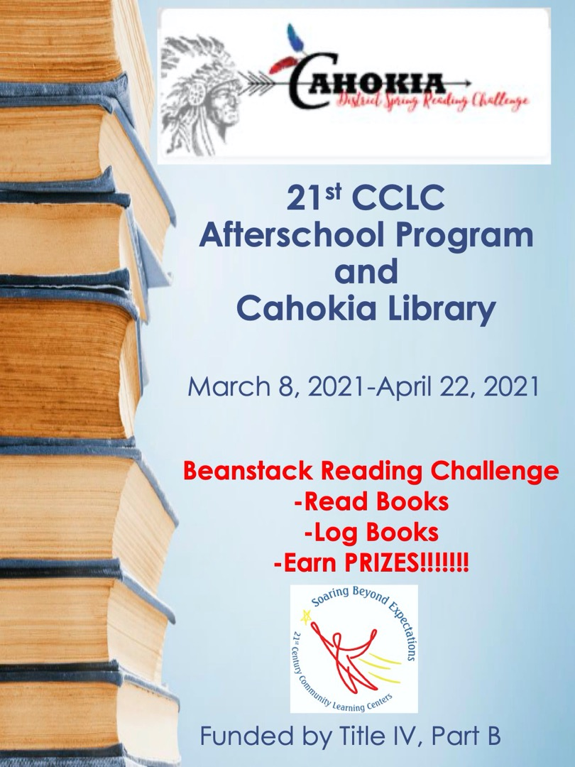 We are so excited to introduce our Reading partnership with Cahokia Library!!!