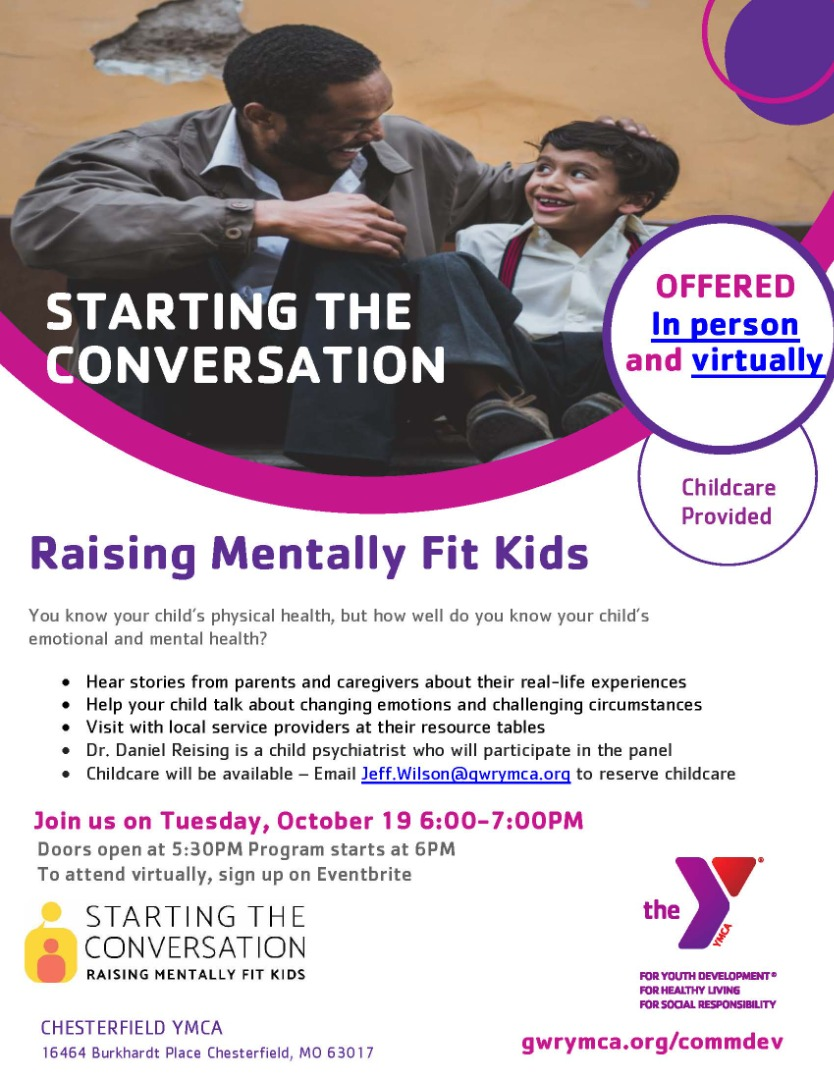 Parents! Join our YMCA partner in this important event!