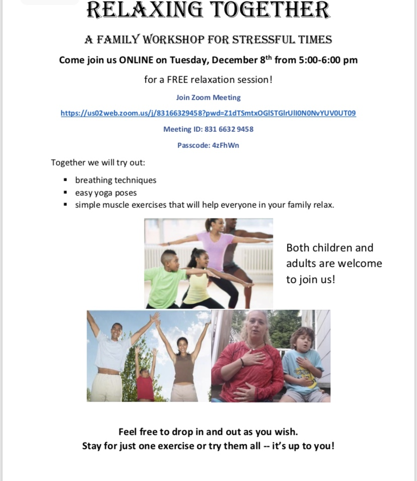 Join us at our stress free event!!! December 8, 2020