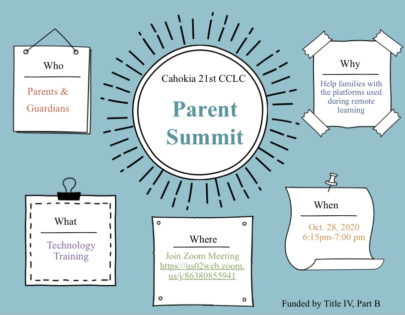 Please Tune in to OUr 1st Parent Summit
