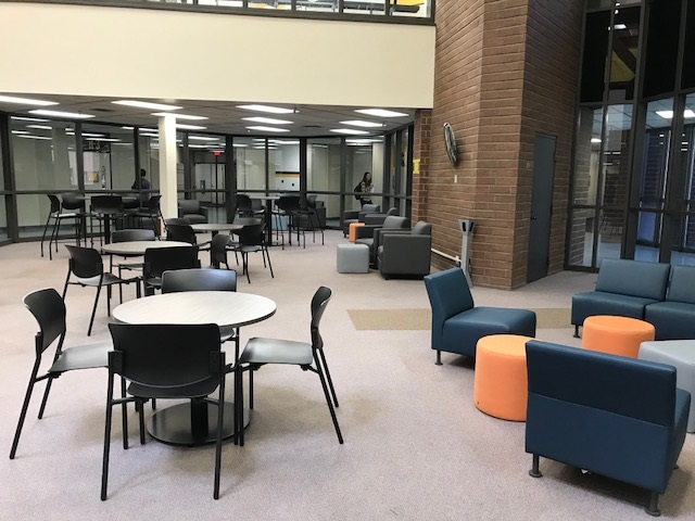 Library seating spaces