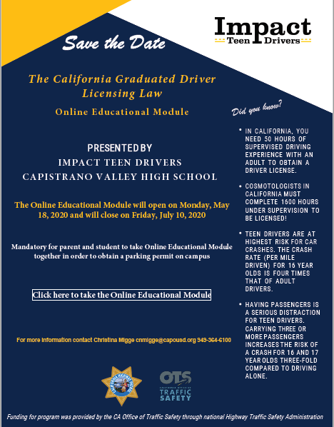 Impact Teen Drivers Flyer
