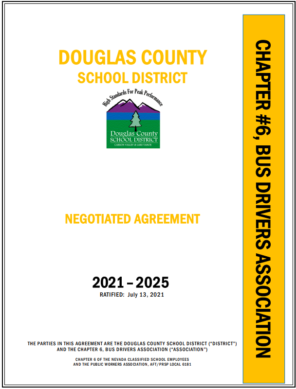 Bus Driver Negotiated Agreement