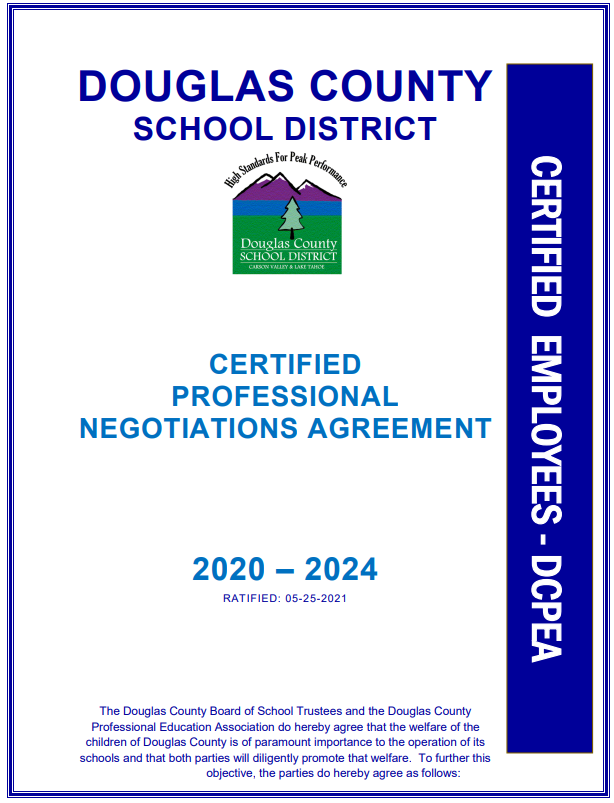 Certified Negotiated Agreement