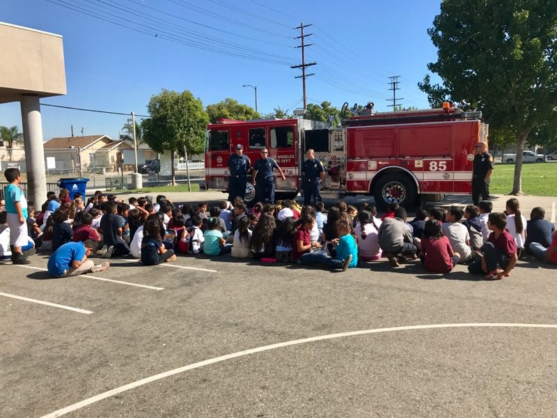 Fire Department visits the After School Program