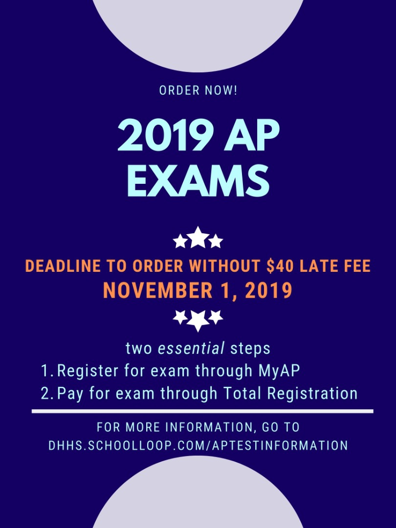 AP exam flyer